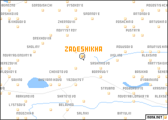 map of Zadeshikha