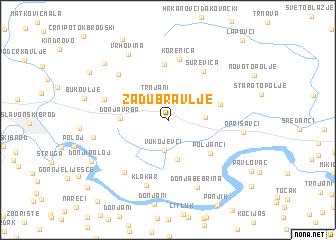map of Zadubravlje