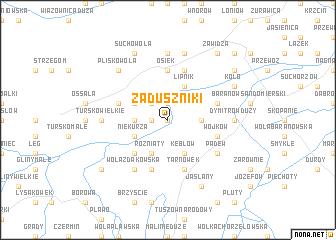map of Zaduszniki