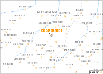 map of Žadvainiai