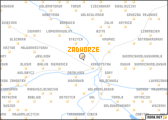 map of Zadworze