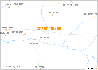 map of Za'farānīyeh