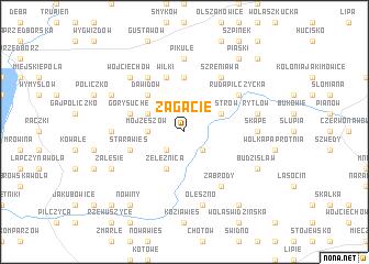 map of Zagacie