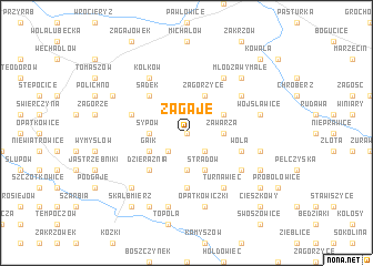map of Zagaje