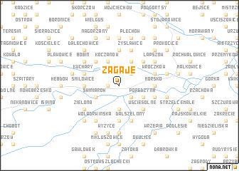 map of Zagaje