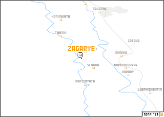 map of Zagar\