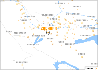 map of Zaghmār
