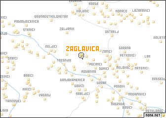 map of Zaglavica