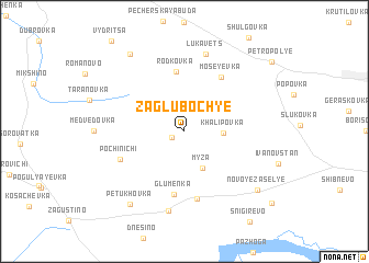 map of Zagluboch\