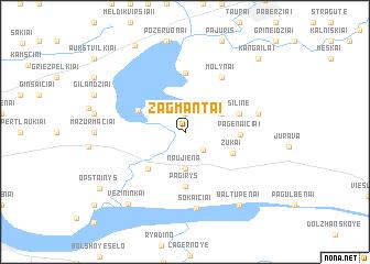 map of Žagmantai