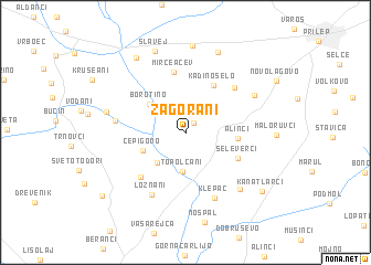 map of Zagorani