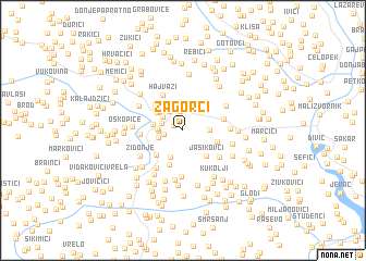 map of Zagorci