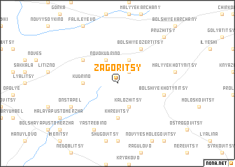 map of Zagoritsy