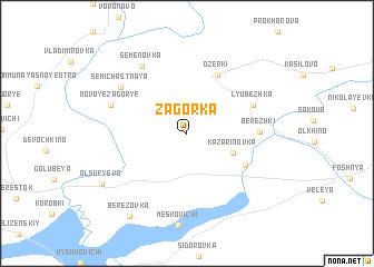 map of Zagorka
