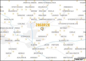 map of Zagórze