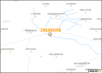 map of Zagoskino
