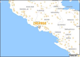 crna gora mapa sutomore Zagrađe (Serbia and Montenegro) map   nona.net crna gora mapa sutomore
