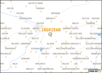 map of Zagrzewo