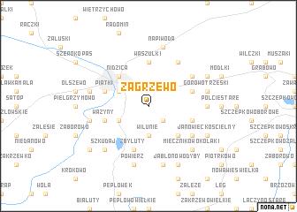 map of Zagrzewo