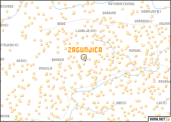 map of Zagunjica