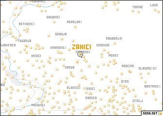 map of Zahići