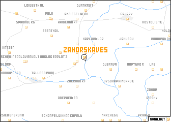 map of Záhorská Ves