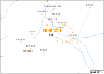 map of Zāhrazai