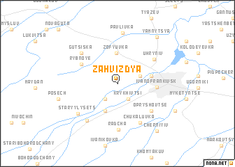 map of Zahvizdya
