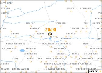 map of Zajki