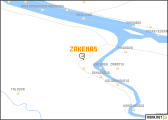 map of Zakemas