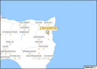 map of Zakhariá