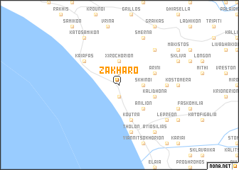 map of Zakháro