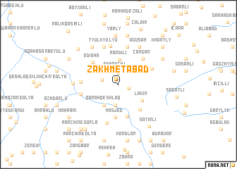 map of Zakhmetabad
