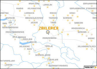 map of Zaklepica