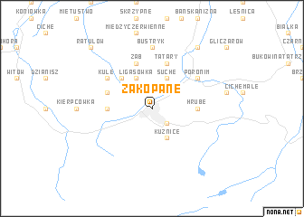 map of Zakopane