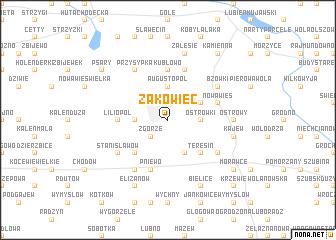 map of Żakowiec