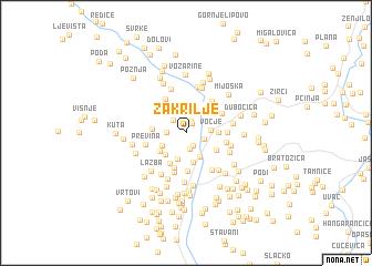 map of Zakrilje