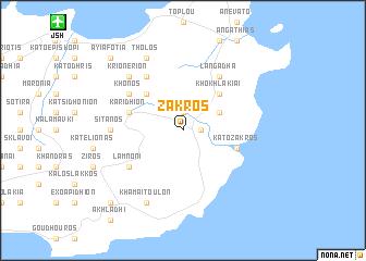 map of Zákros