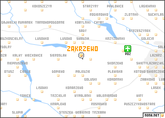 map of Zakrzewo
