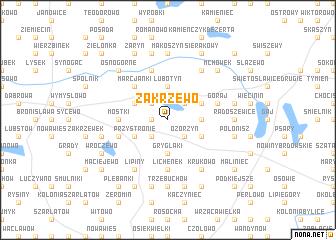 map of Zakrzewo