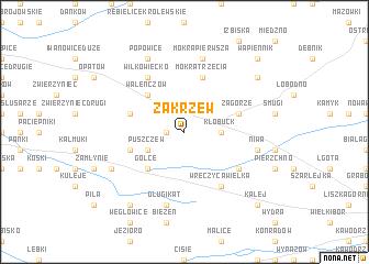 map of Zakrzew