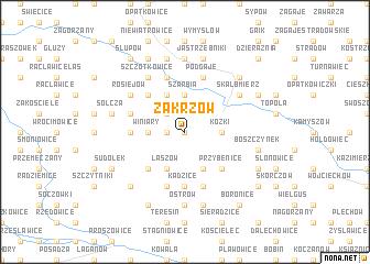map of Zakrzów
