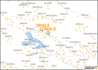 map of Žakule