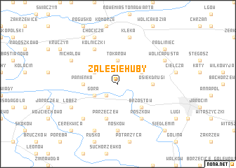 map of Zalesie Huby