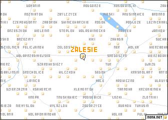 map of Zalesie