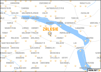 map of Zalesie