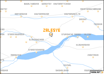map of Zales'ye
