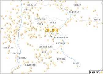 map of Zalipa
