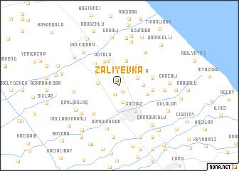 map of Zaliyevka