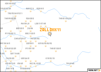 map of Zallokkyi